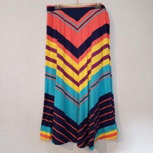 Lane Bryant Maxi Skirt - 14/16 SW chevron design